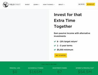 yieldstreet.com screenshot