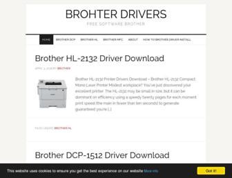 brotherdriverdownload.com screenshot