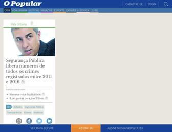 Main page screenshot of opopular.com.br