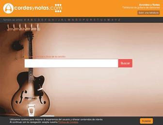 acordesynotas.com screenshot