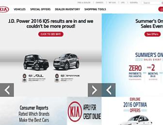 kia.com screenshot