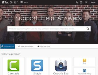 support.techsmith.com screenshot