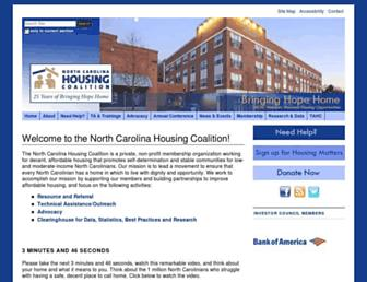 nchousing.org screenshot