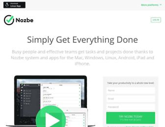 Thumbshot of Nozbe.com