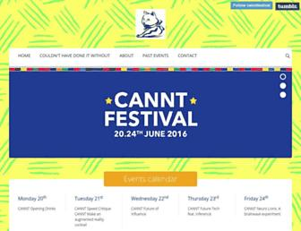 Main page screenshot of cannt.org