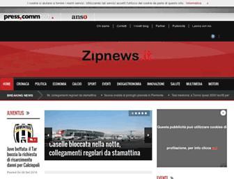 Main page screenshot of zipnews.it