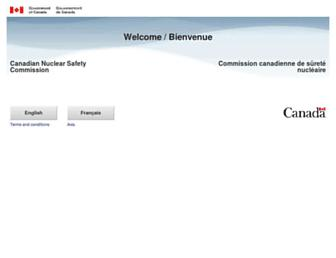 nuclearsafety.gc.ca screenshot