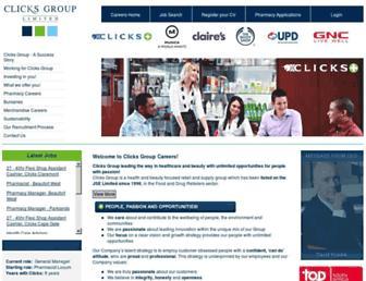 careers.clicksgroup.co.za screenshot