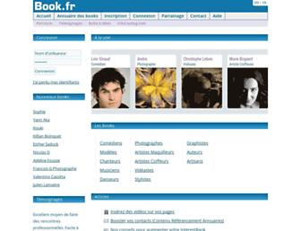 Main page screenshot of book.fr