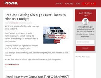 blog.proven.com screenshot