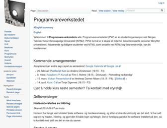 pvv.ntnu.no screenshot