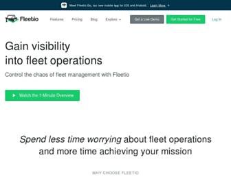 fleetio.com screenshot