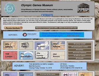 olympic-museum.de screenshot