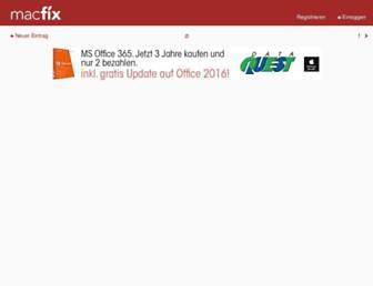 Main page screenshot of macfix.de