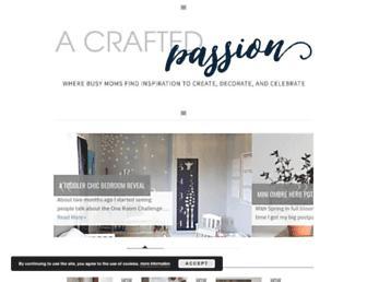 acraftedpassion.com screenshot