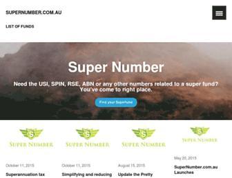 supernumber.com.au screenshot