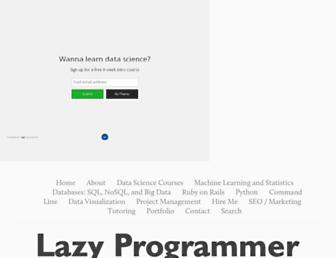 lazyprogrammer.me screenshot