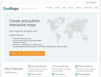 Thumbshot of Zeemaps.com