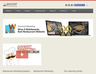 gourmetmarketing.net screenshot