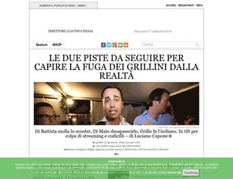 Main page screenshot of ilfoglio.it