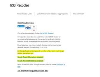 rss-readers.org screenshot
