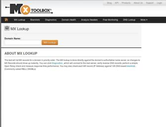 Thumbshot of Mxtoolbox.com