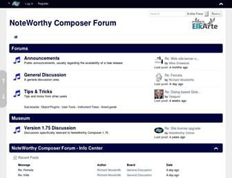 forum.noteworthycomposer.com screenshot