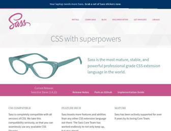 Screenshot for sass-lang.com
