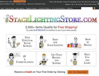 stagelightingstore.com screenshot