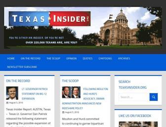 Main page screenshot of texasinsider.org