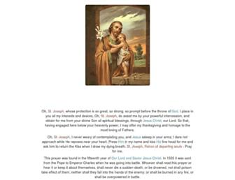 prayertostjoseph.org screenshot