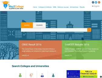 way2college.com screenshot
