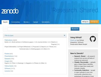 zenodo.org screenshot