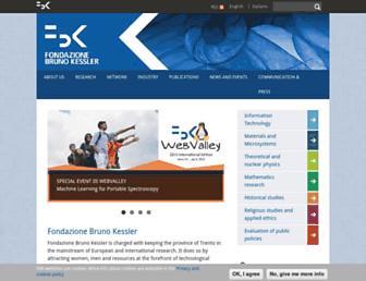 Main page screenshot of fbk.eu