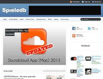 spieledb.com screenshot