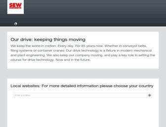 sew-eurodrive.com screenshot