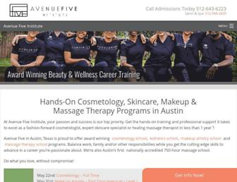 avenuefive.com screenshot