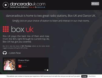 danceradiouk.com screenshot