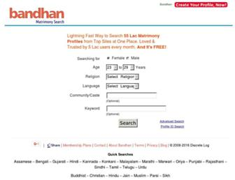 bandhan.com screenshot