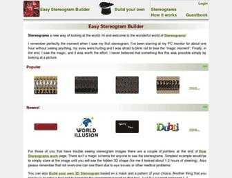 easystereogrambuilder.com screenshot