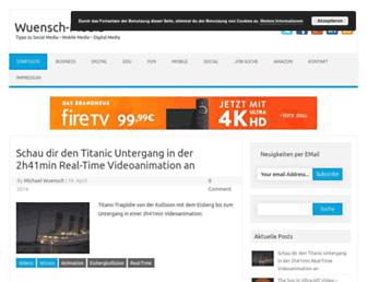 Main page screenshot of wuensch-media.de