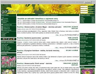 Main page screenshot of garten.cz