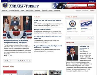 Main page screenshot of turkey.usembassy.gov