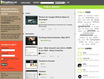 Main page screenshot of blogmarks.net
