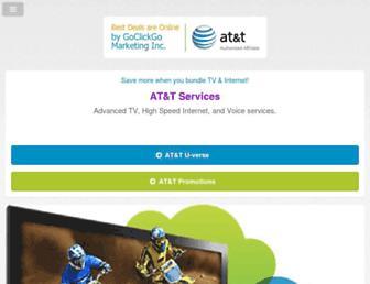 Main page screenshot of att-services.net