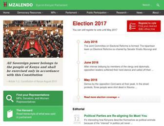 info.mzalendo.com screenshot