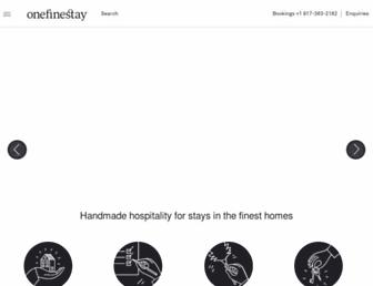 onefinestay.com screenshot