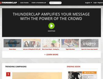 Thumbshot of Thunderclap.it