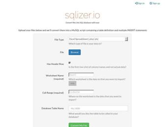 sqlizer.io screenshot