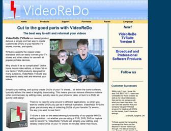 Main page screenshot of videoredo.net